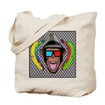 CHECKERBOARD CHIMPSTER Tote Bag