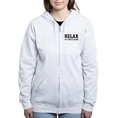 Relax I'm a Gentle Stalker Women's Zip Hoodie