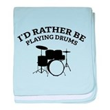 Playing Drums baby blanket