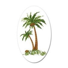 Twin palms Wall Decal