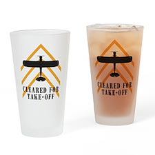 Aviation Airplane Runway Drinking Glass