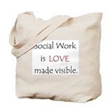 Social Work is Love Tote Bag