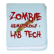 Zombie Hematology Lab Tech baby blanket