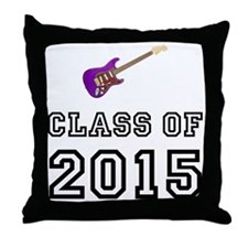 Class Of 2015 Guitar Throw Pillow