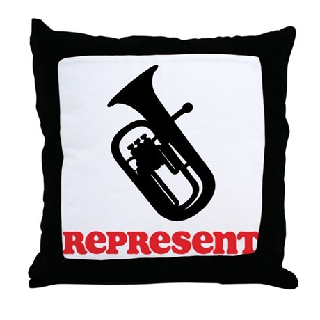 Baritone Represent Throw Pillow