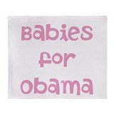 Babies for Obama (Font 1)) Throw Blanket