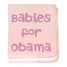 Babies for Obama (Font 1)) baby blanket