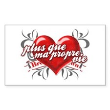 Bella's Heart Sticker (Rectangle)