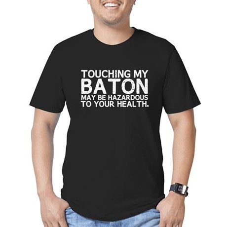 Baton Hazard Men's Fitted T-Shirt (dark)