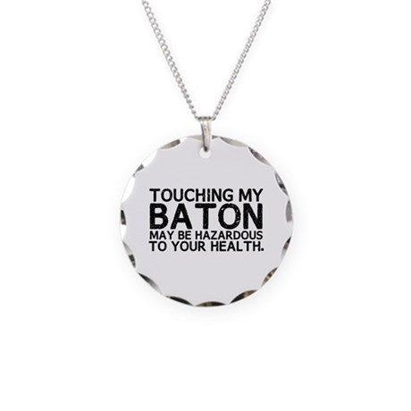 Baton Hazard Necklace Circle Charm