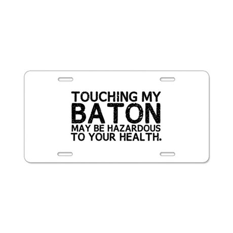 Baton Hazard Aluminum License Plate