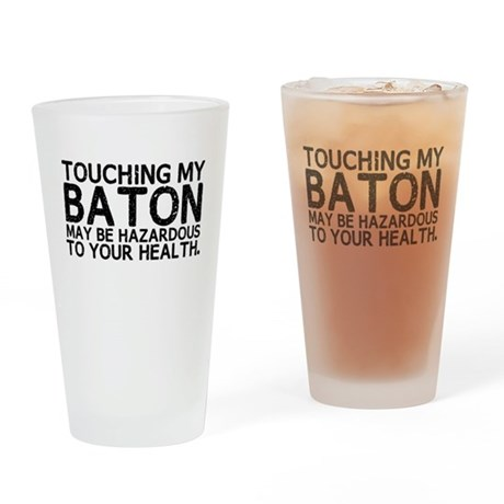 Baton Hazard Drinking Glass