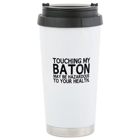Baton Hazard Ceramic Travel Mug