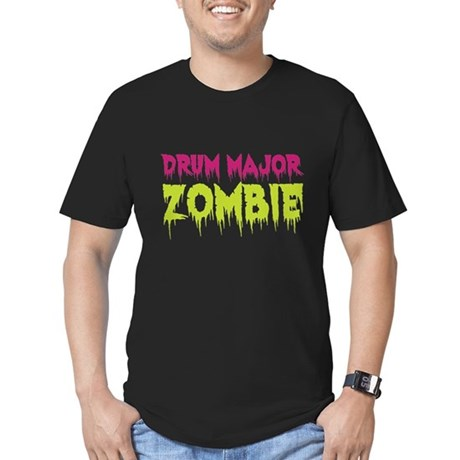 Drum Major Zombie Men's Fitted T-Shirt (dark)