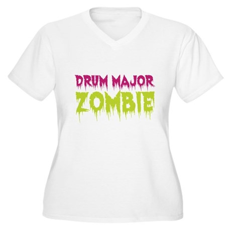 Drum Major Zombie Women's Plus Size V-Neck T-Shirt