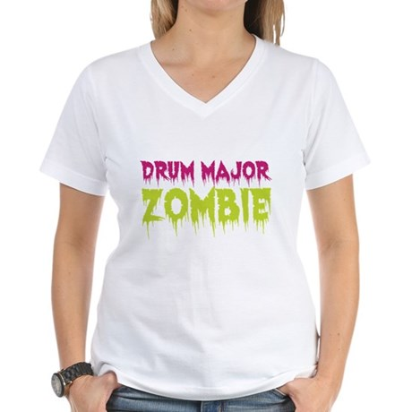 Drum Major Zombie Women's V-Neck T-Shirt