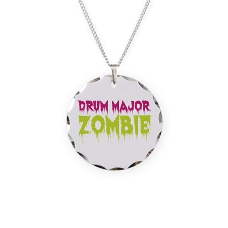 Drum Major Zombie Necklace Circle Charm