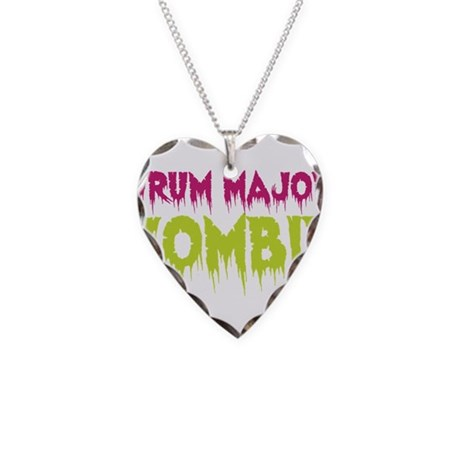 Drum Major Zombie Necklace Heart Charm