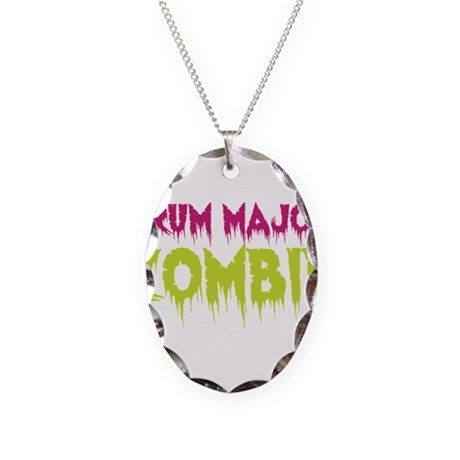 Drum Major Zombie Necklace Oval Charm
