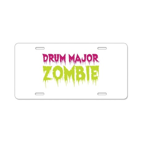 Drum Major Zombie Aluminum License Plate