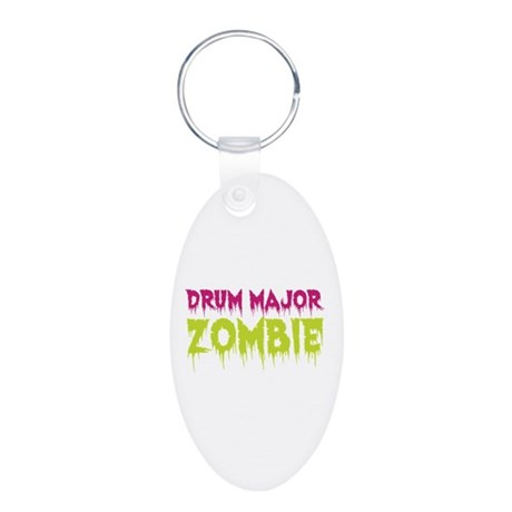 Drum Major Zombie Aluminum Oval Keychain