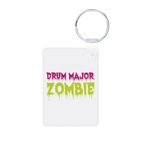 Drum Major Zombie Aluminum Photo Keychain