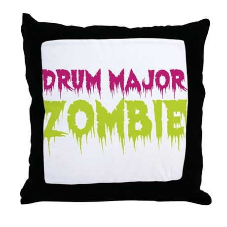 Drum Major Zombie Throw Pillow