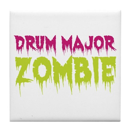 Drum Major Zombie Tile Coaster