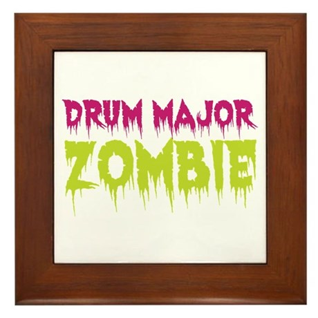 Drum Major Zombie Framed Tile