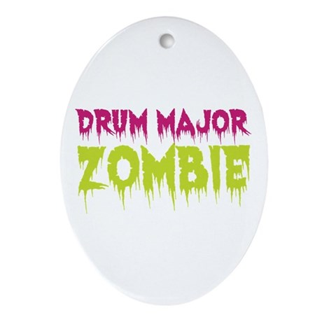 Drum Major Zombie Ornament (Oval)