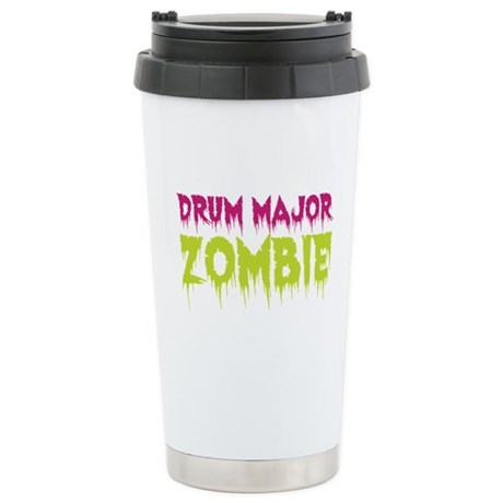 Drum Major Zombie Ceramic Travel Mug