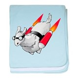 Cute Rocket baby blanket
