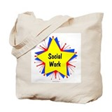 Social Work Starburst Tote Bag