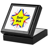 Social Work Starburst Keepsake Box
