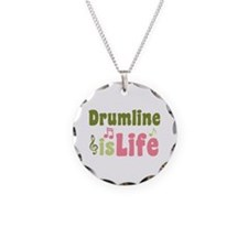 Drumline is Life Necklace Circle Charm
