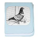 Starling Pigeon 1973 baby blanket