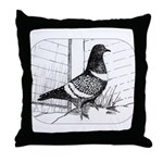 Starling Pigeon 1973 Throw Pillow