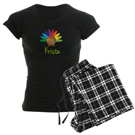 Krista the Turkey Women's Dark Pajamas