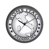Rome Italy LDS Mission Wall Clock
