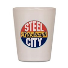 Pittsburgh Vintage Label Shot Glass