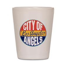 Los Angeles Vintage Label Shot Glass