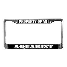 Aquarist Gift License Plate Frame
