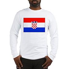 Croatian National Flag Long Sleeve T-Shirt