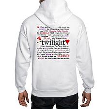 Twilight Quotes Hooded Sweatshirt