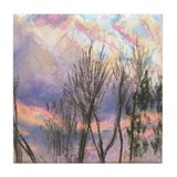 Pink Sunset LS2 Tile Coaster