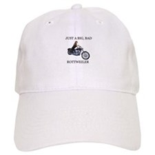 Rottweiler on Motorcycle Baseball Cap