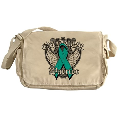 Ovarian Cancer Warrior Messenger Bag