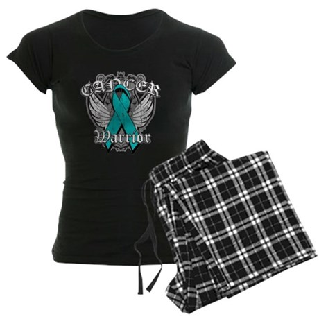 Ovarian Cancer Warrior Women's Dark Pajamas