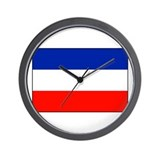 Serbia and Montenegro Wall Clock