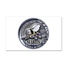 USN Seabees We Build We Fight Car Magnet 20 x 12